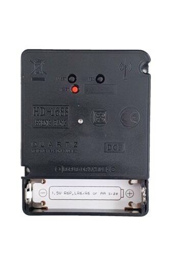 Funkuhrwerk DCF Funkuhr lautlos geräuschlos Uhrzeiger Satz Schwarz Rot 85 mm #75