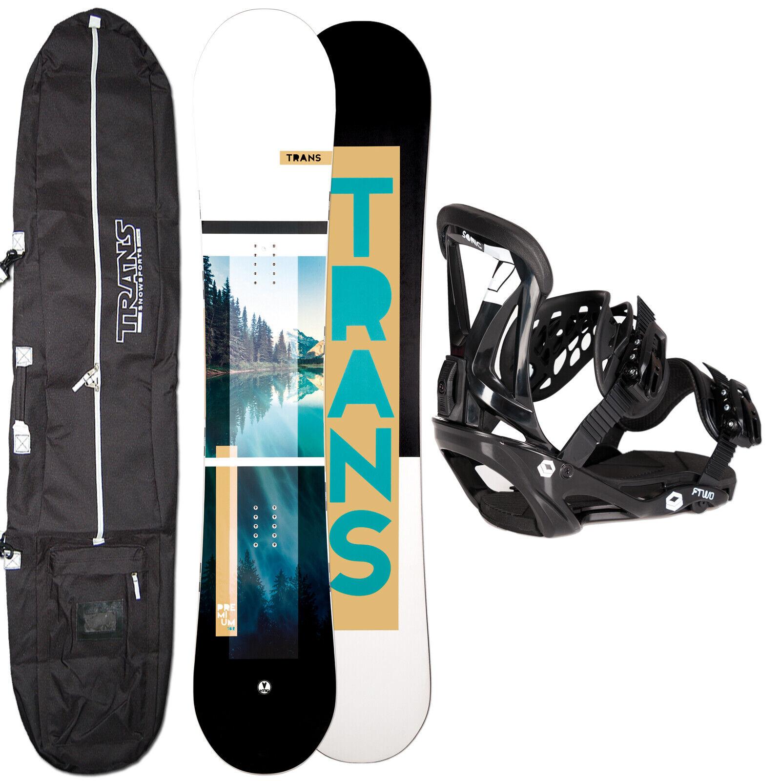 Hombres Snowboard Trans Premium Team 153cm 2019 + Ftwo Sonic Fijación Talla