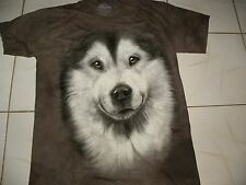 NEW Alaskan Malamute Dog Face The Mountain Adult Large t-Shirt