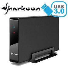 """SHARKOON Swift Case Pro USB 3.0 - 3.5"""" SATA Festplatten Gehäuse ALU - NEU"""