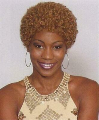 Strawberry Blonde Short Haired Afro Wig Small Afro Wig Lightweight Breezy Cap Ebay
