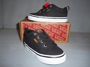 Image is loading Vans-Bishop-Toddler-Unisex-Slip-On-Shoes-Black- d8b573fb2