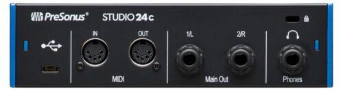 PreSonus Studio 24c USB-C Audio Interface Daw-Software Mic Line Instrument Combo