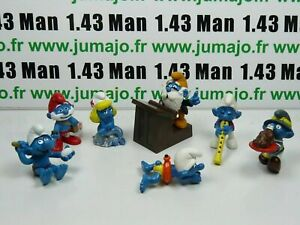 LOT2-Figurine-PVC-schleich-7-SCHTROUMPF-smurf-puffi-pituffo