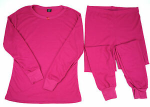 Women-039-s-Cotton-Thermal-Light-Wt-Waffle-Knit-Long-John-Underwear-Set-Sm-2XL