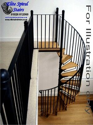 1525mm Stratford Plain Spiral Stairs in beech & steel. Cheap spiral staircases