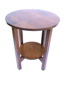 WOW-LARGE-MISSION-TABOURET-END-STAND-SOLID-OAK-24-INCH-FREE-SHIPPING