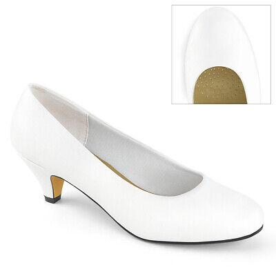 GWEN-01  1 1//4/'/' Block Heel Classic Pump Shoes