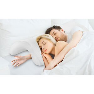 Curved-Memory-Foam-U-shaped-Pillow-Arched-Couple-Sleep-Neck-Pillow-Arm-Relax-UK