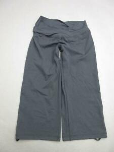 Lululemon-Size-M-Womens-Black-Athletic-Yoga-Fitness-Training-Cropped-Pants-T343