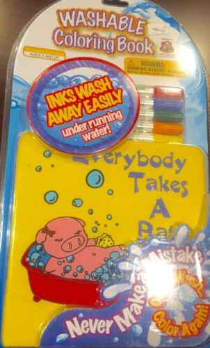 Washable Coloring Book Everybody Takes A Bath Brand New