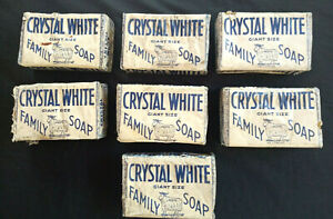 Vintage-Lof-of-7-Bars-Crystal-White-Peets-Giant-Size-Soap-Colgate-Palmolive-MC
