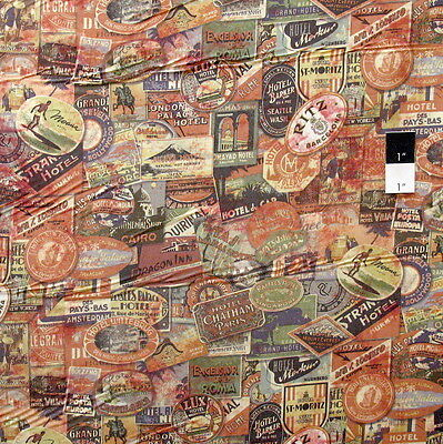 Cotton Fabric Quilting Tim Holtz Eclectic Elements Vintage Labels