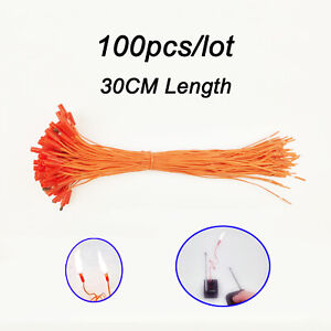 100-pcs-30CM-11-81in-match-wire-for-Fireworks-Firing-System-electric-wire