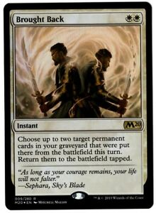 MTG Magic the Gathering M20 Magic 2020 FOIL Brought Back /'MINT Condition!
