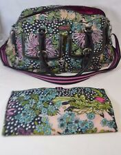 OILILY MULTICOLOR MESSENGER STYLE FLORAL DIAPER BAG AND MATTRESS MAT ON SALE DF