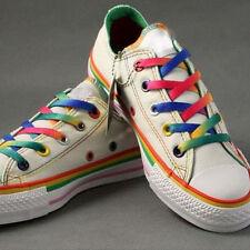 5Paar platt Schnürsenkel Regenbogen Muster Schuhband für Wanderschuhe Turnschuhe