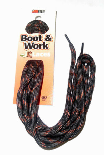 "JobSite Boot Round Shoelace 54007 Hiking Lace BLACK BROWN COPPER 60/"" Athletic 60"