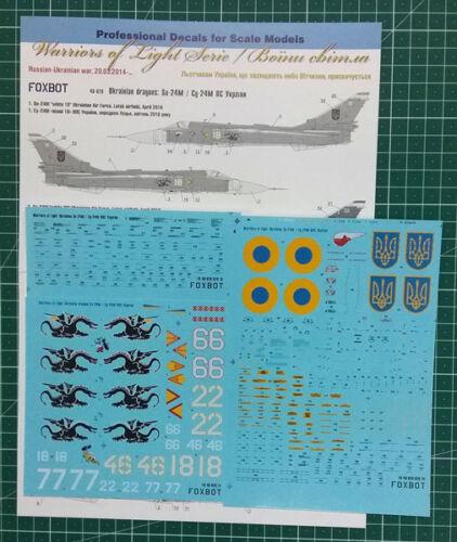 "Decal Su-24M /""Ukrainian Dragons/"" Ukrainian Air Force 48-028 Foxbot 1:48"