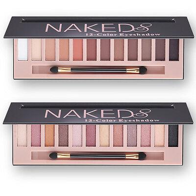 Naked Shimmer Eyeshadow Gilter Eye Shadow Palette&Makeup Cosmetic Brush kits