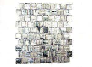 Mosaik-Fliese-Transluzent-Glasmosaik-Crystal-schwarz-klar-68-CF41-f-10-Matten
