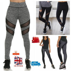 29dd2221be8f7 UK Women Yoga Pants Ladies Fitness Leggings Running Gym Wear Sports ...
