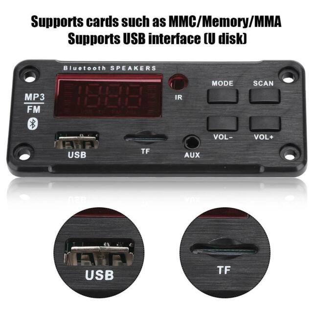 DC12V MP3 Bluetooth Decoder Board Audio Modul USB Fernbedienung Aux Fm Mit  T4E8