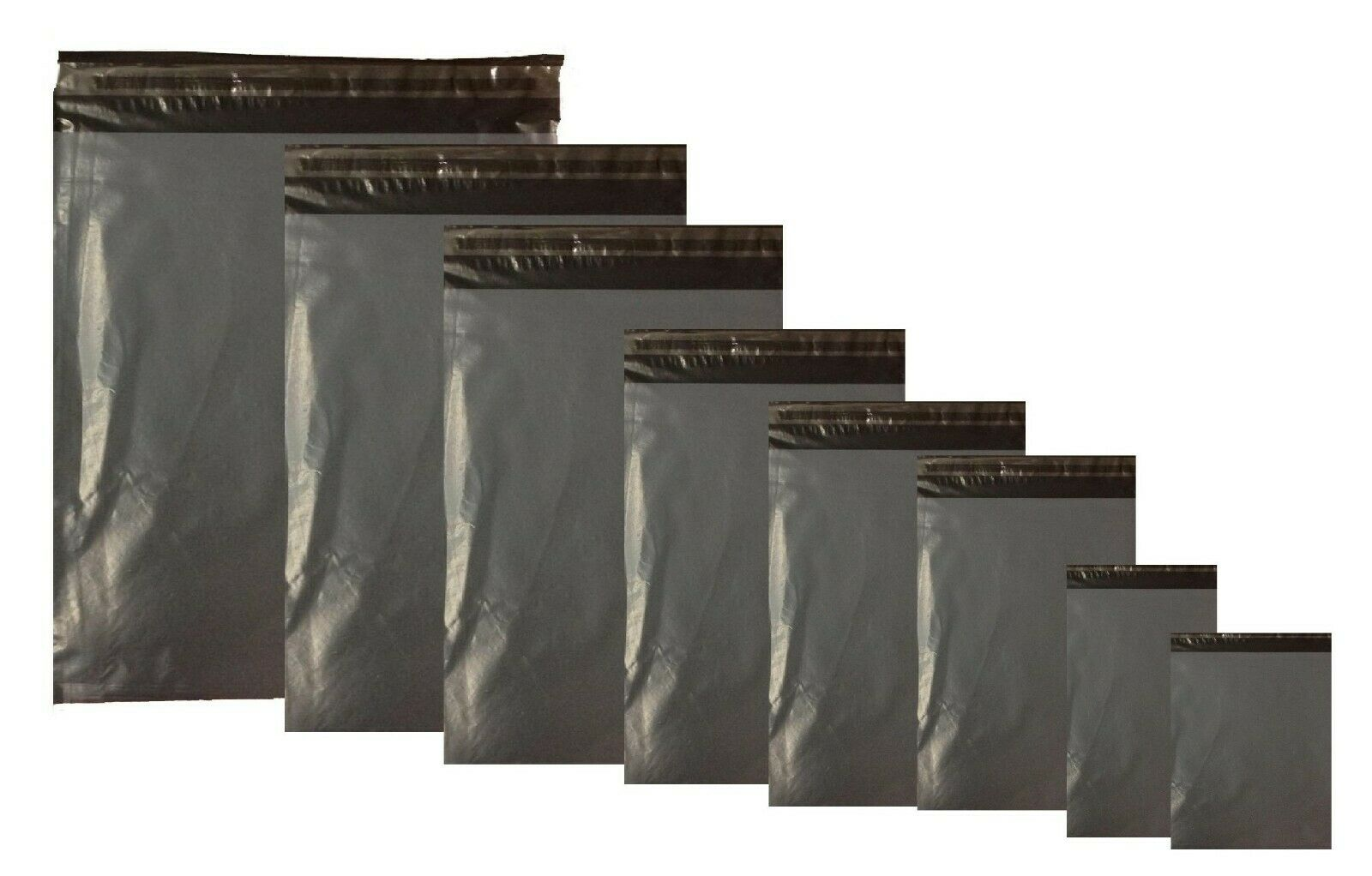 Strong Grey Plastic Mailing Post Poly Postage Bags with Self Seal  Sp Offer
