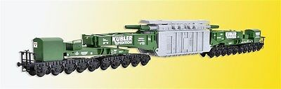 Kibri H0 16500 Schienentiefladew MAN Uaai 687.9 mit Transformator Kübler NEU//OVP
