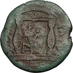 ANTONINUS-PIUS-Isis-Harpokrates-Horus-Temple-Alexandria-Egypt-Roman-Coin-i52373