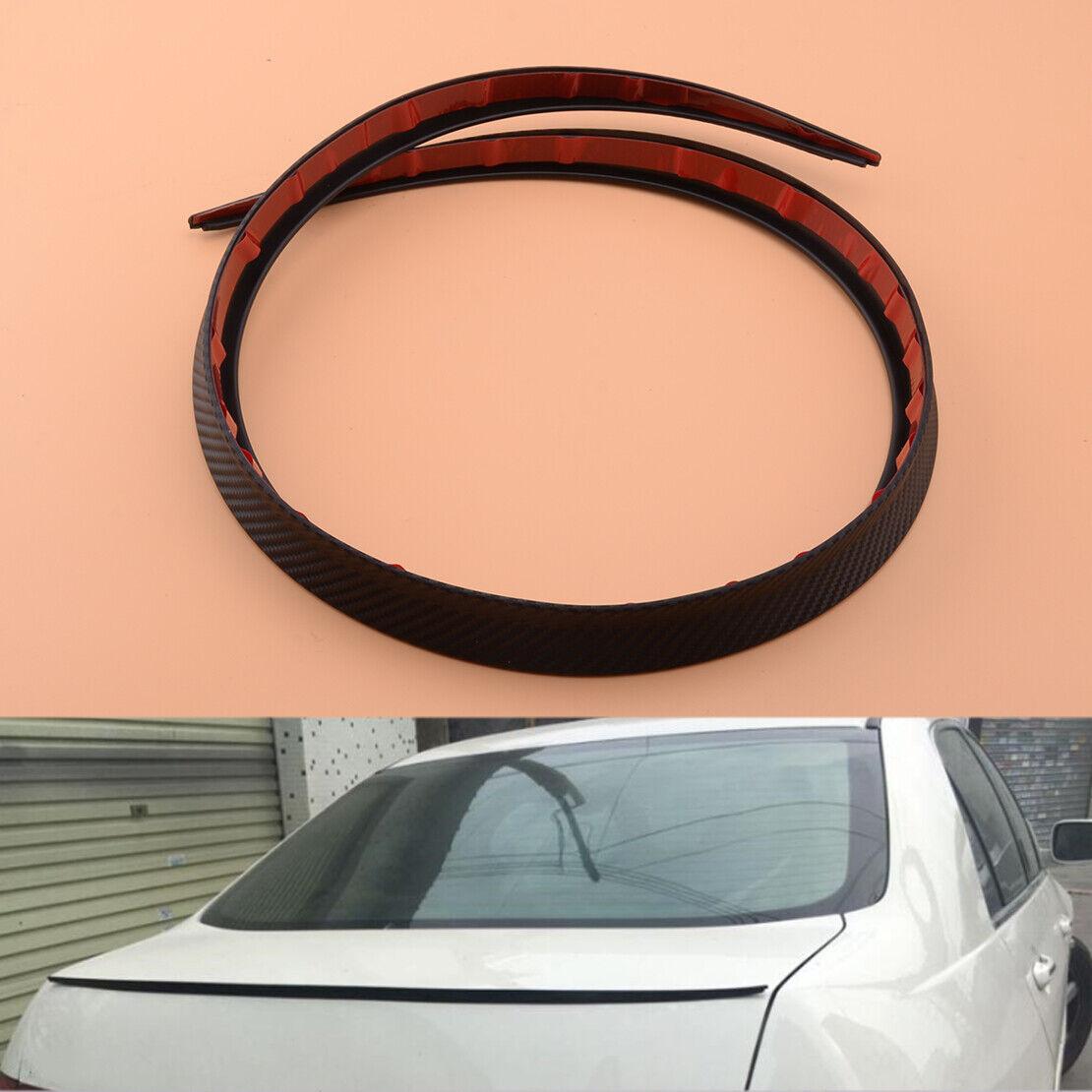 Carbon Fiber Surface Car SUV Rear Spoiler Wing Lip Trim Protector Cover Black