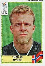 N°251 THOMAS MYHRE NORGE NORWAY PANINI EURO 2000 STICKER VIGNETTE