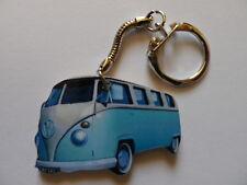 FUNKY LIGHT BLUE VW CAMPER VAN KEYRING. NEW. KEY RING