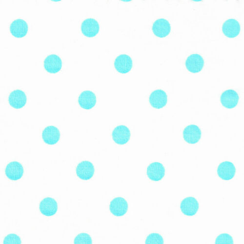 "100/% COTTON FABRIC BY YARD 8MM VIVID COLOR POLKA DOT SPOTS DOTTY CLOTH DRESS 44/"""