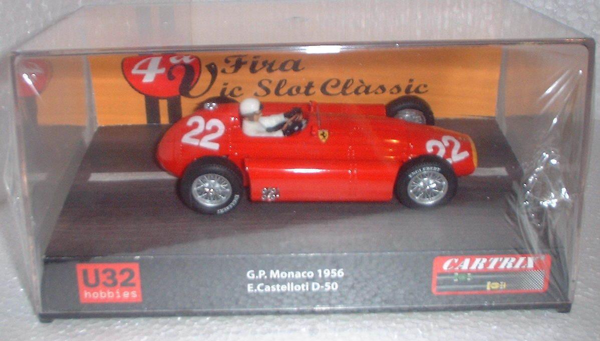 Qq CocheTRIX 0016 LANCIA FERRARI D 50 GP MONACO 1956 E CASTELLOTI   22 ROJO L.E.
