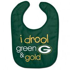 Green Bay Packers I Druel Baby Bib [NEW] NFL Infant Newborn Polyester Terrycloth