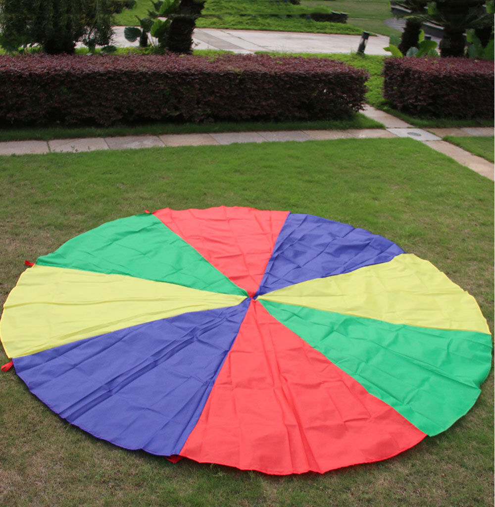 6M Kids Jugar Rainbow Parachute Outdoor Group Juego Family Exercise Sport Juguete