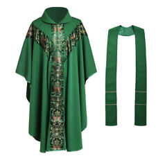 Blessume Church Father Priest Green Chasuble J033 Catholic Robe Clergy Vestments