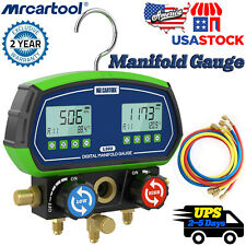 Digital Refrigerant Manifold Gauge Hvac Vacuum Leak Pressure Temp Tester Meter