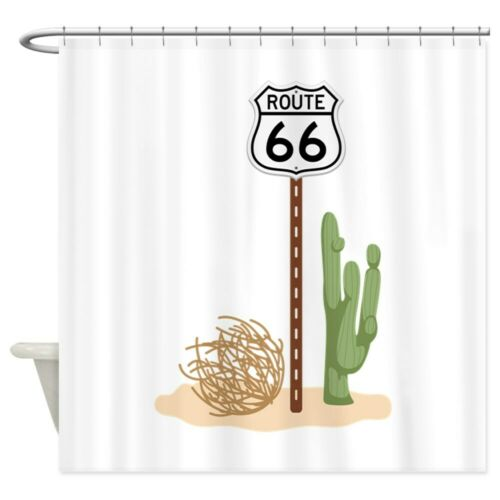 """69/""""x70/"""" 1624305082 CafePress Route 66 Decorative Fabric Shower Curtain"""