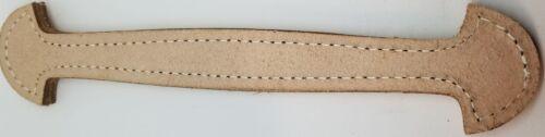 "Natural 9-7//8/"" Shovel Head Leather Trunk Handle holes Slots chest steamer antiqu"