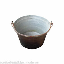 Antica Pentola Paiolo Calderone in Ferro Vintage Large Copper Cauldron Antiques