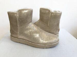 e9868496728 Details about UGG CLASSIC ABREE MINI STARDUST METALLIC GOLD Boot US 10 / EU  41 / UK 8 - NIB