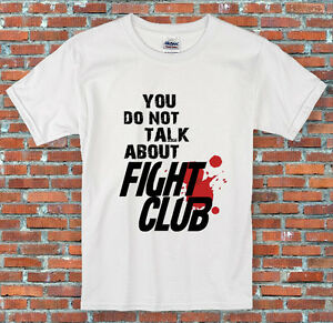 """/""""You do not talk about Fight Club/"""" Fighting Quote Movie Inspired T Shirt S 2XL"""