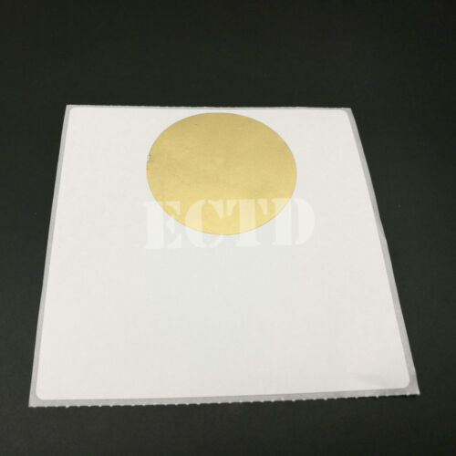 """100 Gold Scratch off  2/"""" Circle Round stickers labels games favor promotional"""
