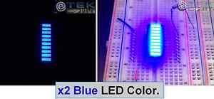 USA 2 pcs x 10-Segments LED GAALAS BARGRAPH Array Super Bright RED