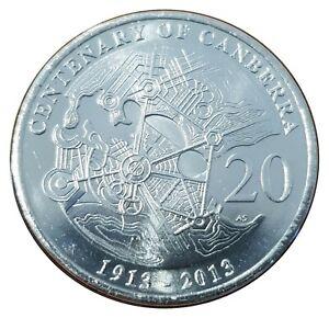Australia-2013-Centenary-of-Canberra-20c-Twenty-Cents-UNC-Coin-Carded