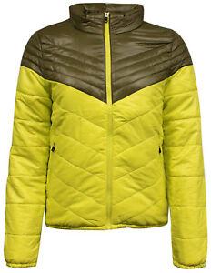 Nike-Womens-Insulated-Padded-Zip-Lightweight-Coat-Jacket-Yellow-418566-233-M19