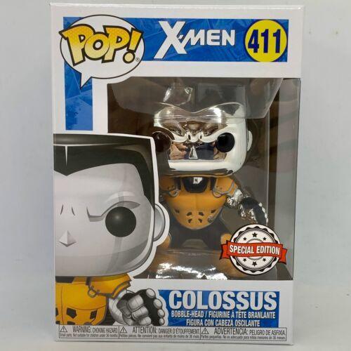 Funko POP X-Men 411-Colossus argent chromé édition spéciale