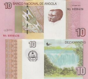 Angola-10-Kwanza-2012-dos-Santos-amp-Neto-Luena-Falls-p151B-UNC